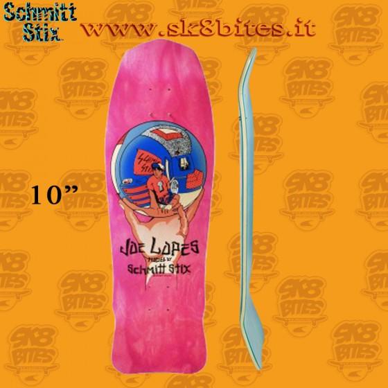 "Schmitt Stix Joe Lopes Crystal Ball Modern Concave Purple 10"" Skateboard Oldschool Pool Crusing Deck"