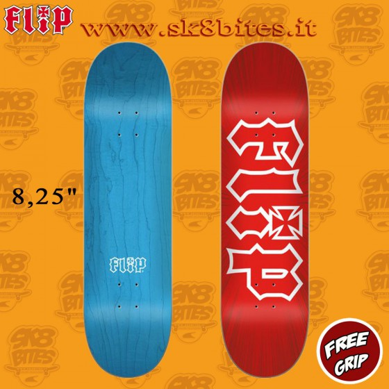 "Flip HKD Burst Red 8.25"" Tavola Skateboard Street Pool"
