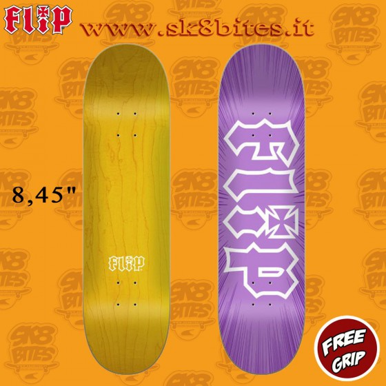 "Flip HKD Burst Purple 8.45"" Tavola Skateboard Street Pool"