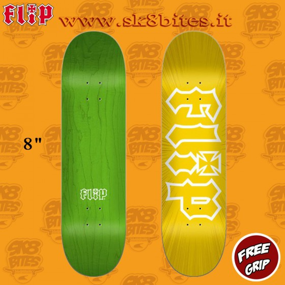 "Flip HKD Burst Yellow 8.0"" Tavola Skateboard Street Pool"