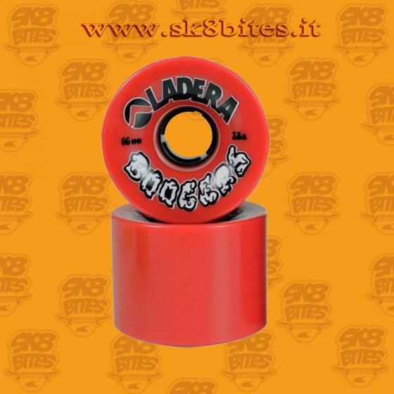 Ladera Boogers Red 66mm 78a Ruote Longboard Freeride Slide Cruising
