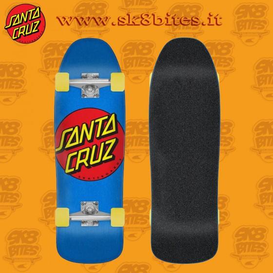 "Santa Cruz Classic Dot 9.35"" Tavola Completa Cruiser Carving Tavola Completa Oldschool Skateboard"