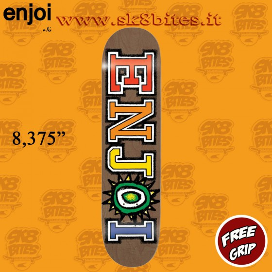 Enjoi Whats The Deal R7 Brown 8.375