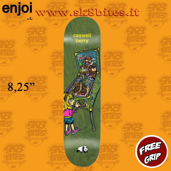 "Enjoi Whats The Deal Berry 8.25"" Tavola Skateboard Street Pool"