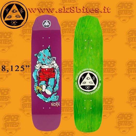 "Welcome Pro Teddy Nora Vasconcellos Pro Model Grape 8.125"" Tavola Skateboard Street Pool"