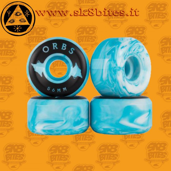 Welcome Orbs Specters 56mm Blue White Skateboard Street Pool Wheels