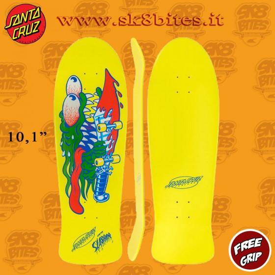 "Santa Cruz Reissue Sp19 Slasher ReIssue 10,1"" Skateboard Oldschool Street Deck"