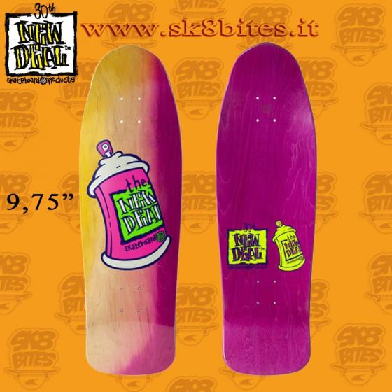 "New Deal Spray Can Neon 9,75"" Skateboard Street Deck"