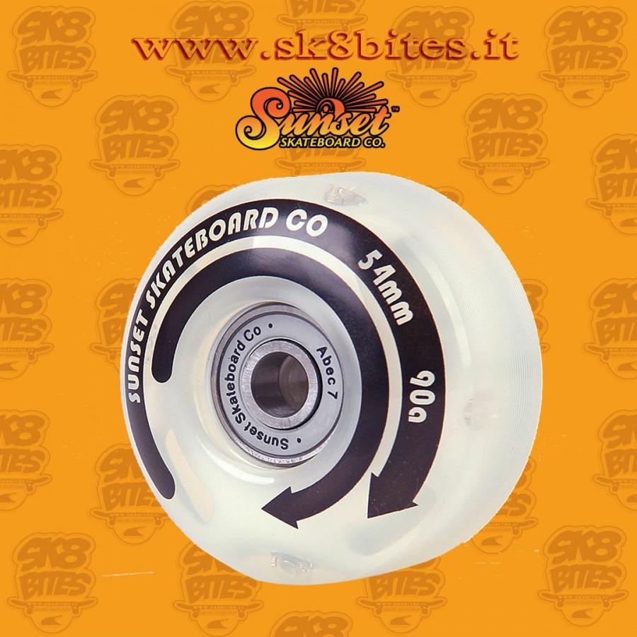 Sunset Led Street 54mm Skateboard Street Pool Led Wheels