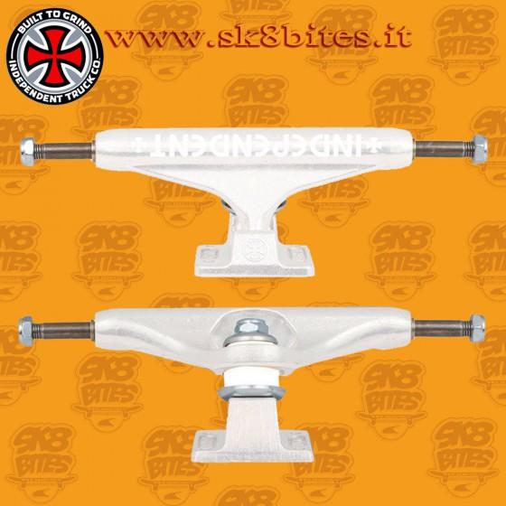 Independent Stage 11 Bar White 159mm Skateboard Street Pool Trucks