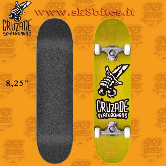 "Cruzade Corp 8.25"" Complete Skateboard Street Pool Deck"