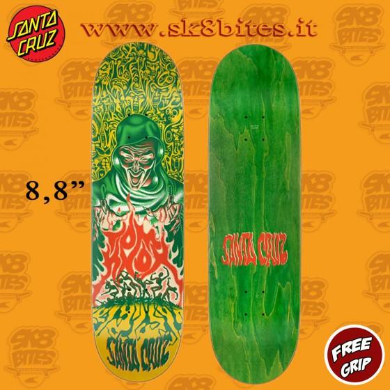 "Santa Cruz Tom Knox Firepit 8,8"" Skateboard Street Pool Deck"