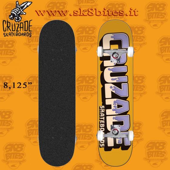 "Cruzade Can 8.125"" Complete Skateboard Street Pool Deck"